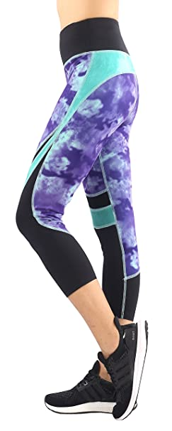 Sugar Pocket Womens Capri Tights Leggings Running Pants