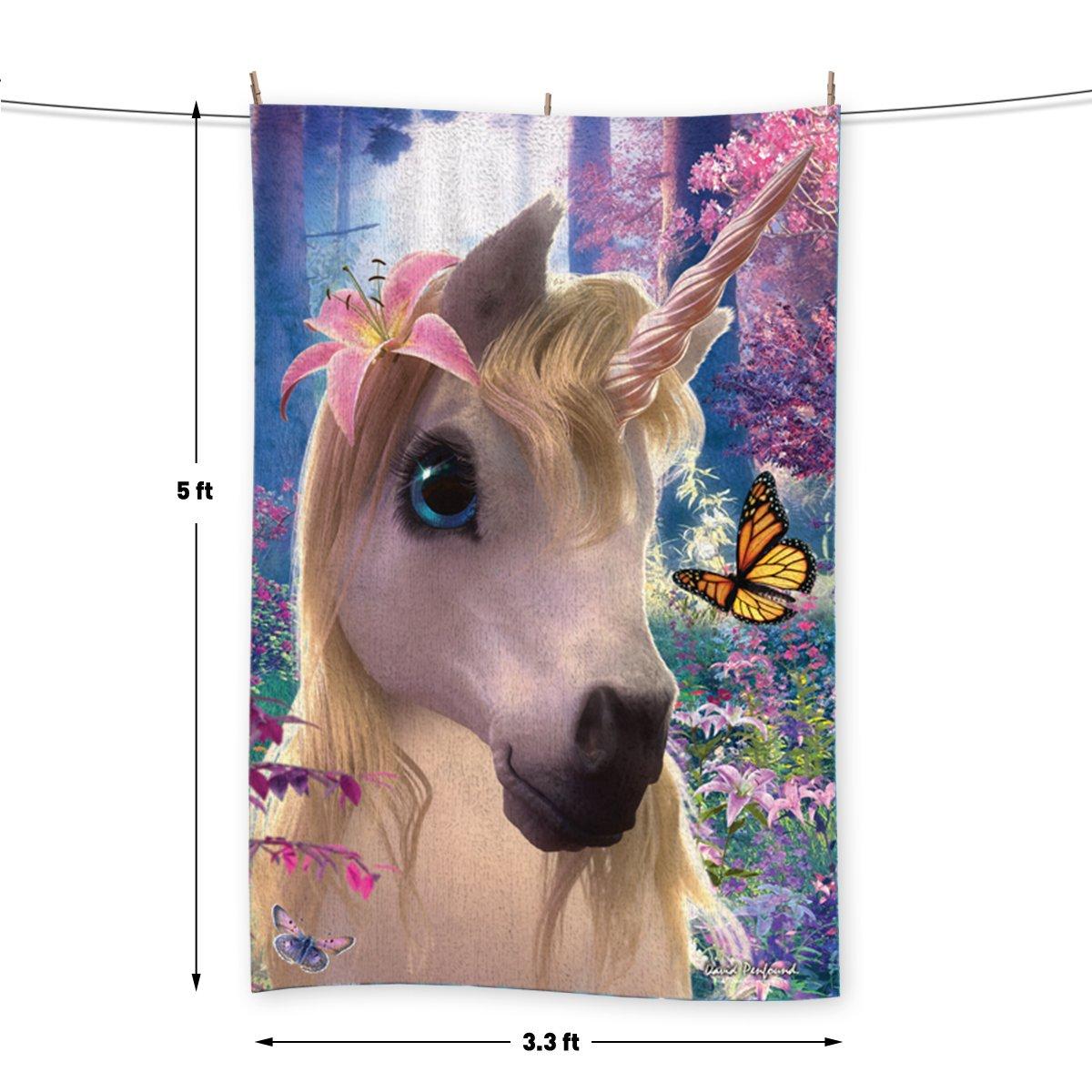 Sparkle el unicornio - por David Penfound - Toalla - 5 FT X 3.3 ft (60 x 40 cm): Amazon.es: Hogar