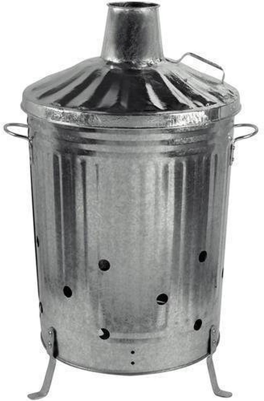 Gardman Large Metal Galvanized Dustbin Composter