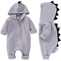 625f922c7bf7 YOUNGER TREE Baby Boy Girl Outfits Dinosaur Long Sleeve Hoodie Romper  Jumpsuit Onesie for Newborn Fall