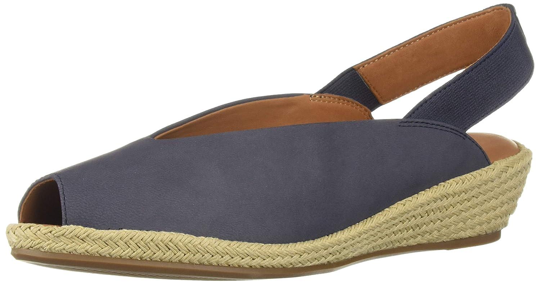 Navy Gentle Souls Women's Luci Slingback 2 Espadrille Wedge Sandal Sandal