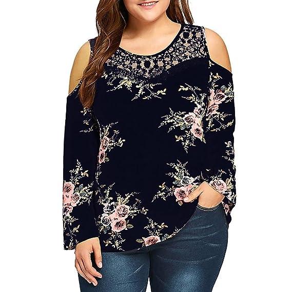 Camiseta con la Manga Larga, Blusa de la impresión de la Flor, Camisa Larga