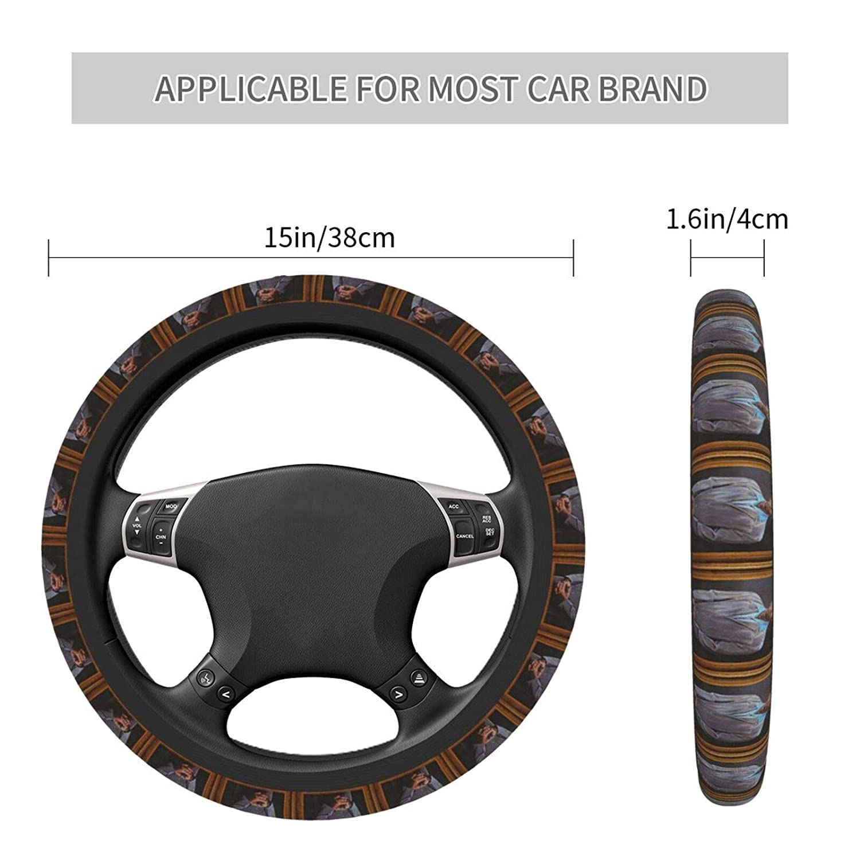 Non Slip Environmentally Friendly and Durable for Most Models Sei-Nfel-D KRA-M-Er Steering Wheel Cover Elastic