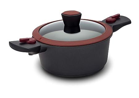 Nava Cacerola de Cocina 20 cm con Tapa - Olla de Aluminio ...