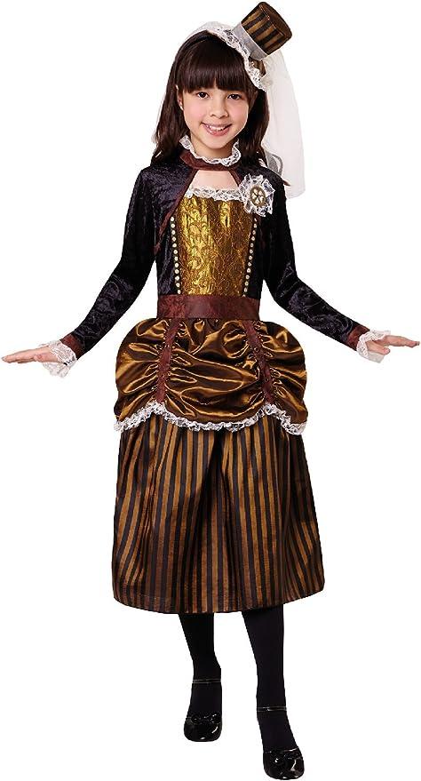 Girls Steampunk Halloween Horror Cute Scary Fancy Dress Costume Outfit 4-12ys