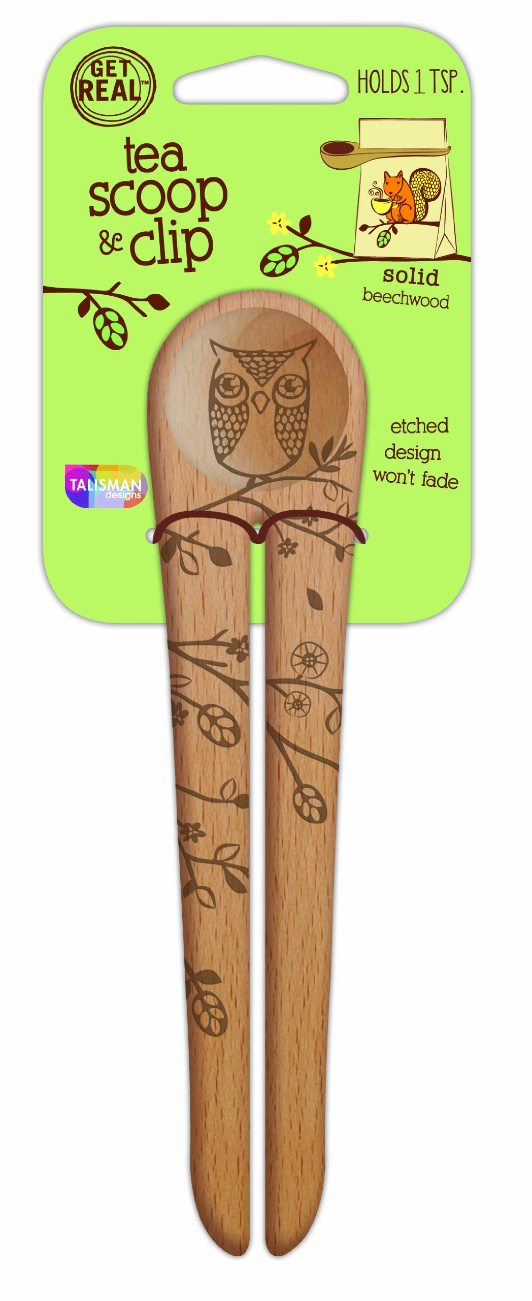 Talisman Designs 1224 Beechwood Woodland Tea Scoop