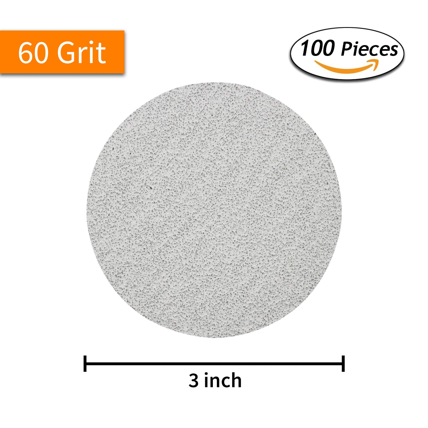 100-Pack Woodworking Tools Accessories 3 Inch 3000 Grit Aluminum Oxide Wet//Dry No Holes Hook and Loop Sanding Discs for 3 Sanding Pads