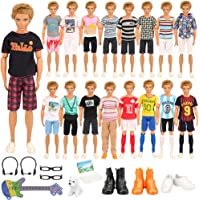 Barwa 22 Accessories for Ken Dolls: 12 Clothes Outfits + 3 PCS Shoes + 7 Accessories