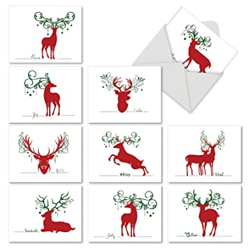 Amazon m2937sgb seasonal silhouettes 10 assorted blank m2937sgb seasonal silhouettes 10 assorted blank seasons greetings note cards featuring simple graphic images of m4hsunfo