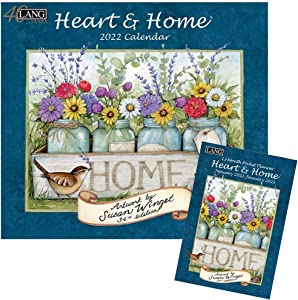 Lang Heart and Home 2022 Wall Calendar and Monthly Pocket Planner - Artwork by Susan Winget