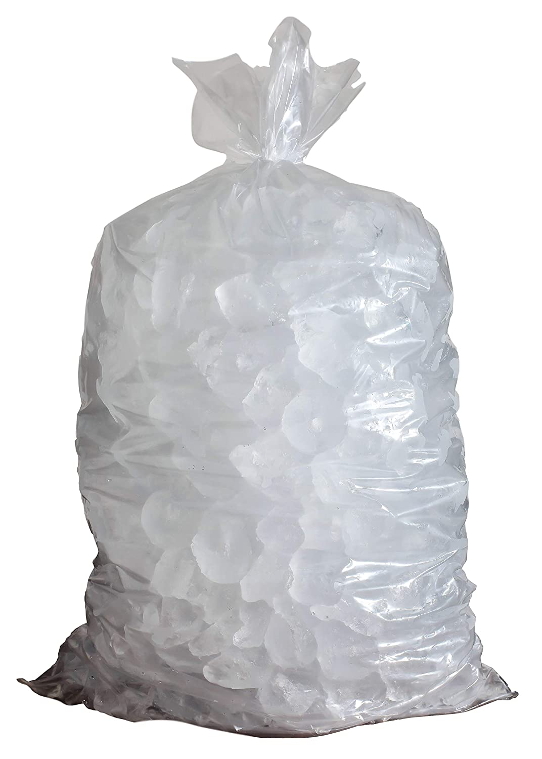 Aluf Plastics 0.6 MIL Clear Poly 5 LB Ice Buckets Liners Poly Food Bags - 8