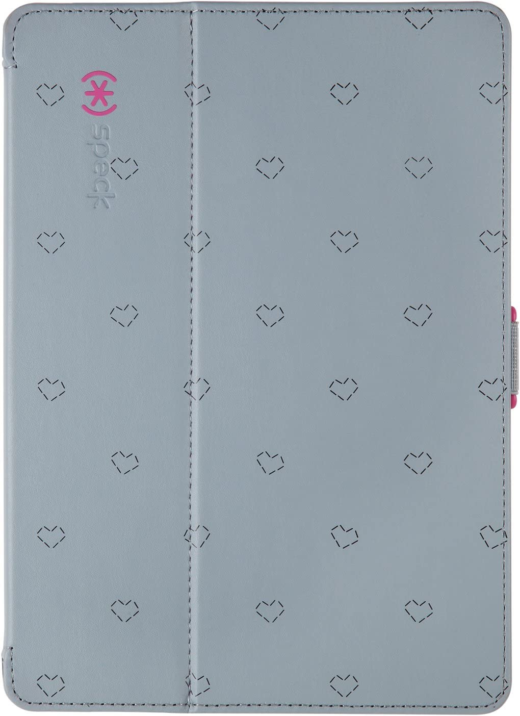 Speck Products StyleFolio Case and Stand for iPad Air 2 - LoveSpace Nickel/Raspberry Pink (71961-B902)