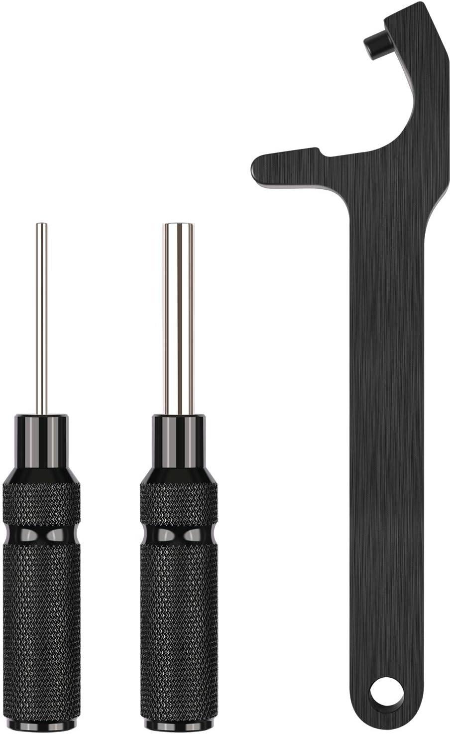 Hexagonal Handlebar Installation Tool Riflescope Pin Punch 2 En 1 Herramienta De Desmontaje Glock Tool Kit Magazine Hex Tool Armatures De Protecci/ón Hoonee Herramienta De Desmontaje