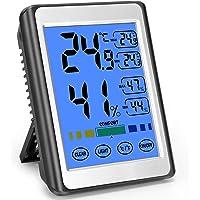 MOSUO Rumstermometer digital termometer hygrometer, inomhusmonitor fuktighetsmätare med bakgrundsbelysning för…