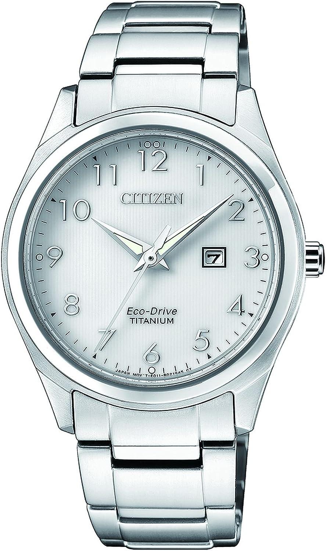 Citizen Reloj Analógico para Mujer de Cuarzo con Correa en Titanio EW2470-87A