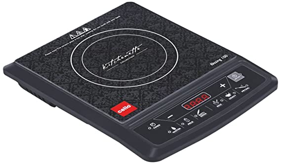 Cello Blazing 100 1800-Watt Induction Cooker (Black) Induction Cooktops at amazon