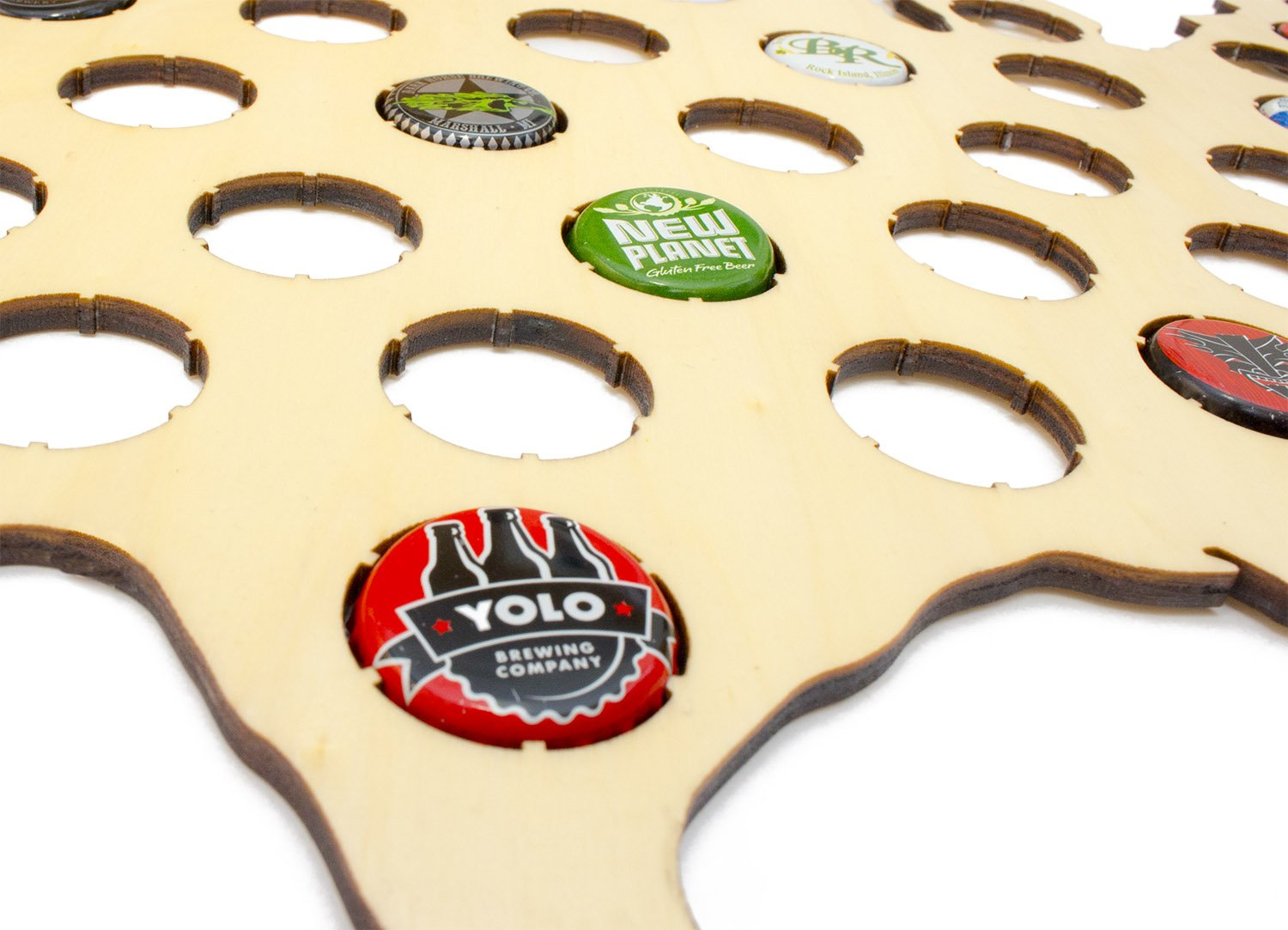 Amazoncom USA Beer Cap Map Holds Craft Beer Bottle Caps - Us beer cap map