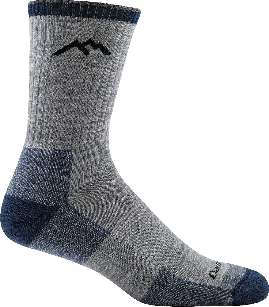 Darn Tough Hiker Micro Crew Cushion Sock - Men's Light Gray Large by Darn Tough (Image #1)