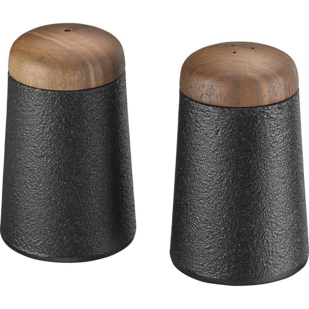 Skeppshult Cast Iron Salt & Pepper Shakers | Walnut Lid
