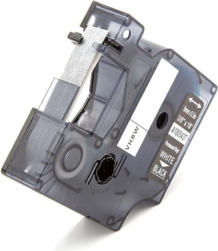 PL200 PL300 come Dymo 18482. vhbw Cassetta Nastro in Poliestere 9mm per Etichettatrice 3M PL100