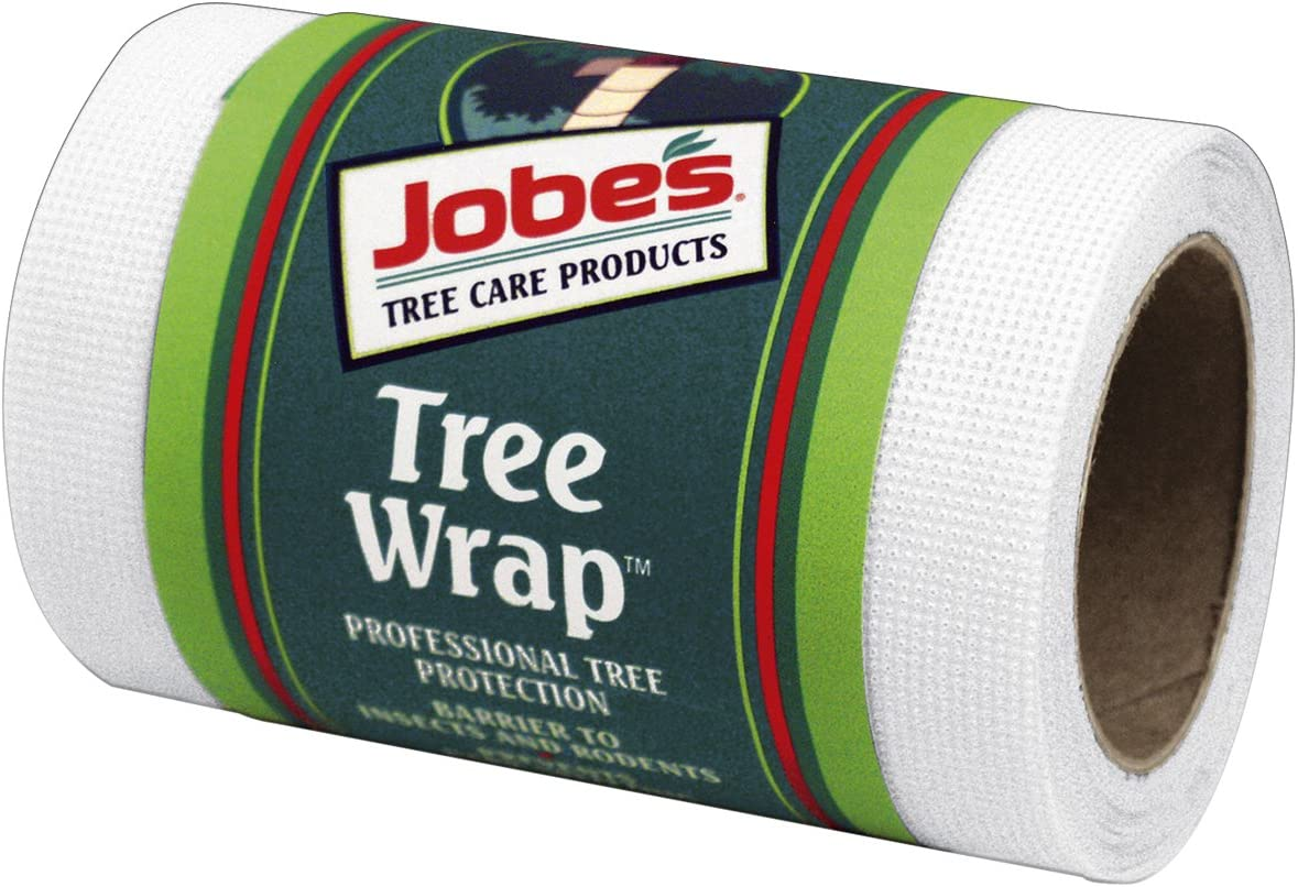 Jobe's Tree Wrap for Tree Trunk Protection (Reflects Heat and Provides Professional Protection from Insects) Stretches as Tree Grows, Wraps 3 to 4 Young Trees, 4 inches x 20 feet
