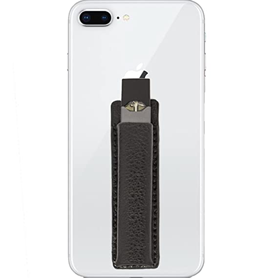 best website 4f1bb c287e DEEJ Co. | Slim Leather JUUL Holder for Cell Phone | Compatible with  iPhone, Android, Samsung Galaxy (Black)