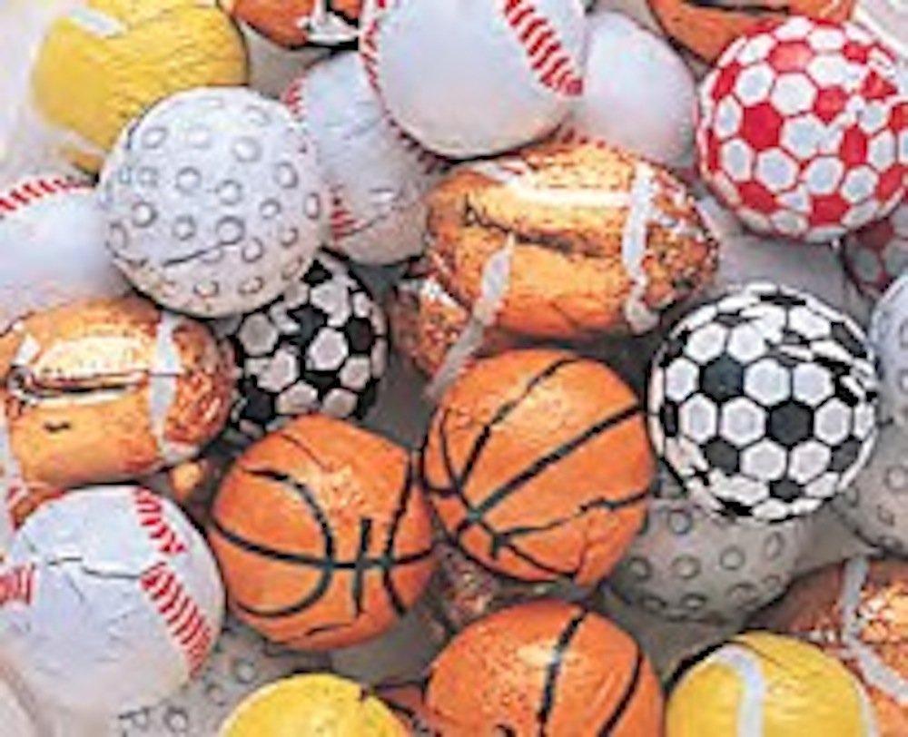 Amazon.com : Assorted Foiled Milk Chocolate Sport Balls 1LB Bag ...