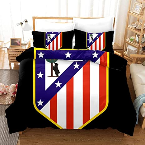 Amazon.com: Atlético Madrid Bedding Duvet Cover Set Duvet ...