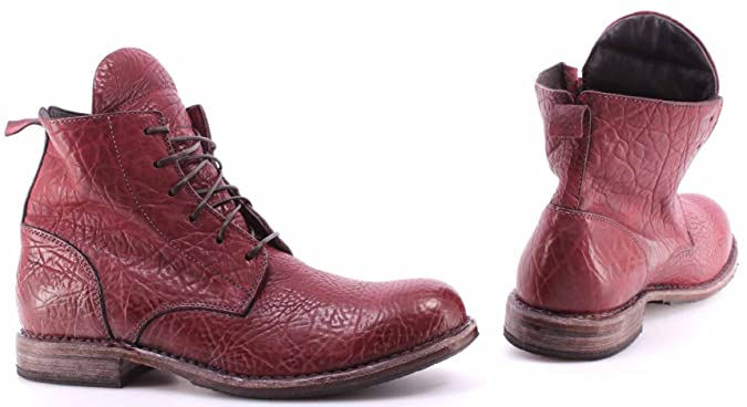 Zapatos Hombres Botines MOMA 59604-Y4 Polacco Wizened Chile Bordeaux Vintage IT: Amazon.es: Zapatos y complementos