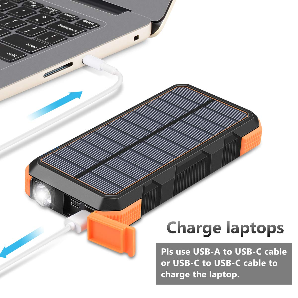 Cargador Solar Portatil 26800mah Para Laptop Macbook Usb-c