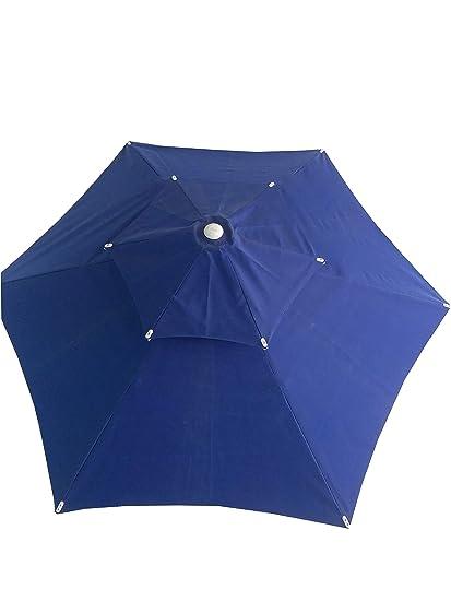 Patio Umbrella (6 Part Hex Umbrella 2 Tire - Blue)