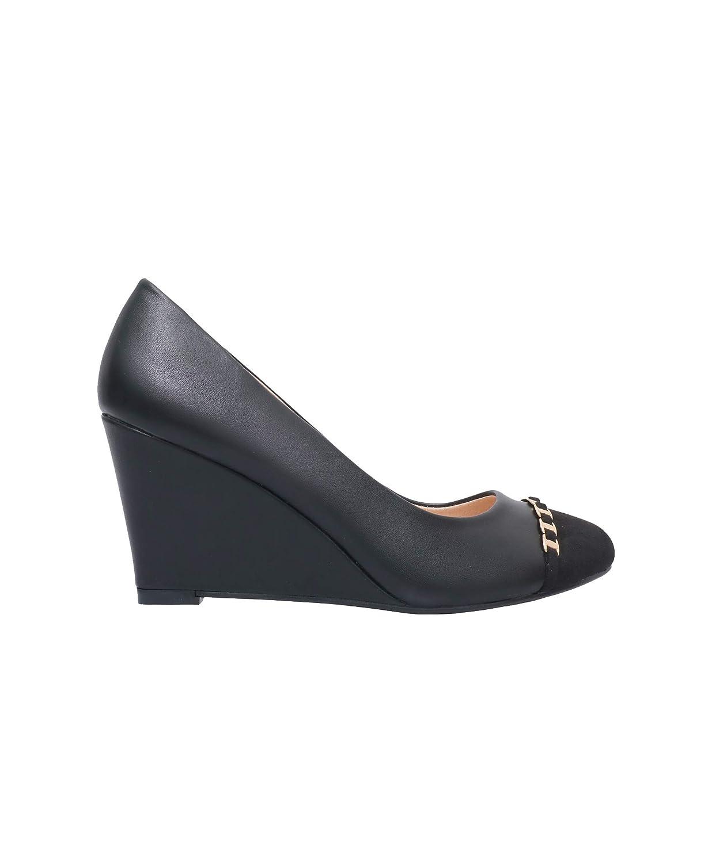 TALLA 39 EU. KRISP Zapatos Mujer Tacón Cuña Moda