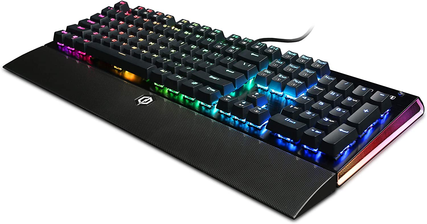 CyberPowerPC Skorpion K2 CPSK302 RGB Mechanical Gaming Keyboard with Kontact Blue (Clicky) Mechanical Switches