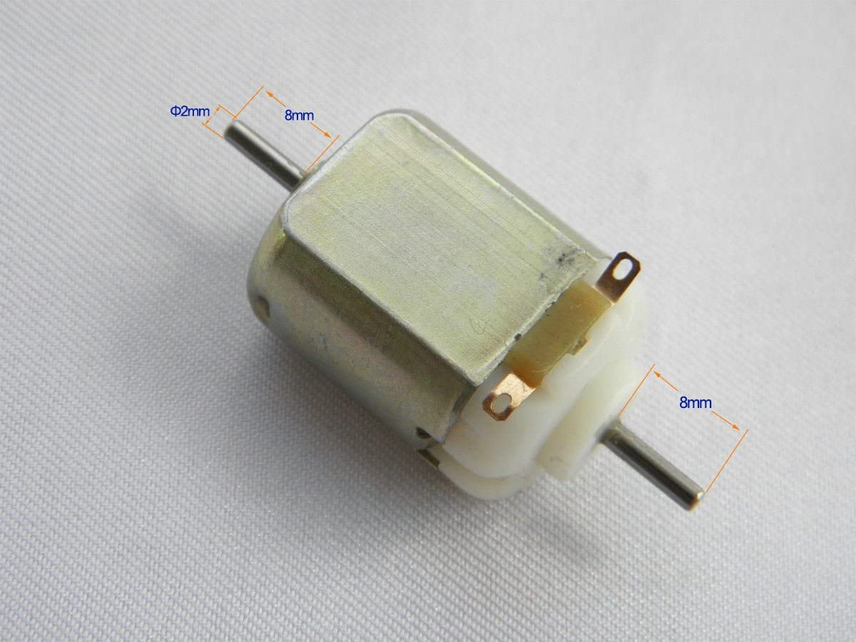 Lot of 2 Small DC Brush Motor Double Shafts 1.2-3V 14000RPM for Model Fan Remote control devices Toys