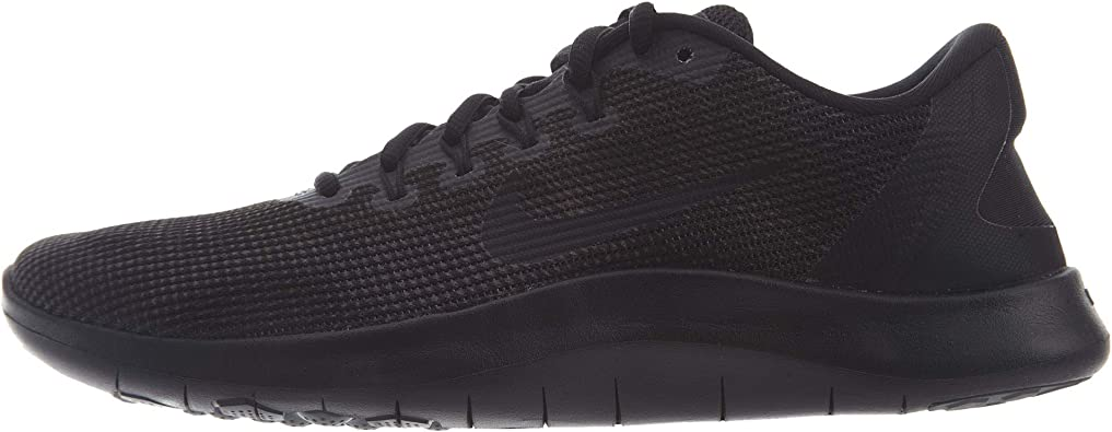 Nike Mens Flex 2018 Rn Low Top Lace Up Running Sneaker, Black, Size 10.5