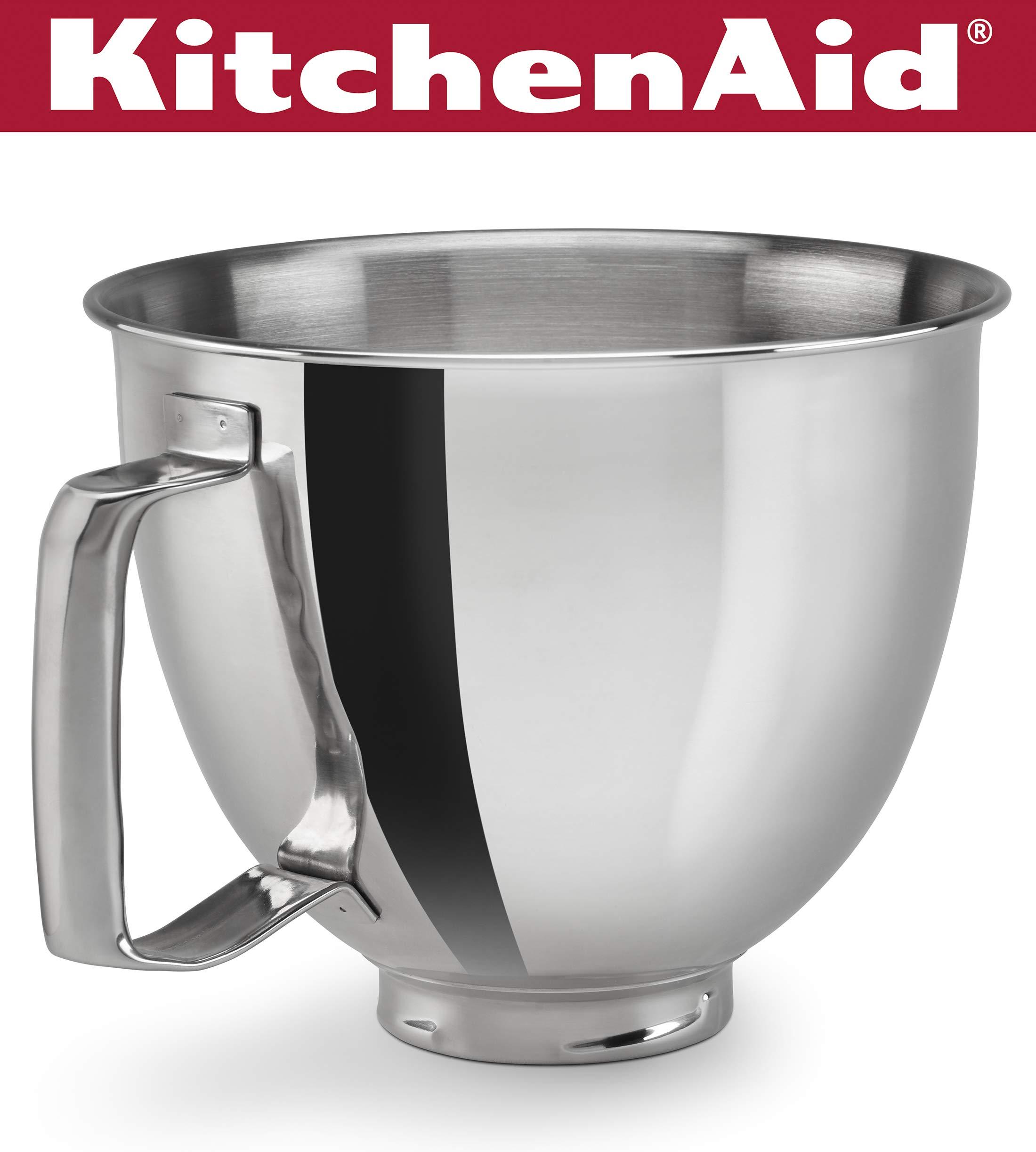 KitchenAid KSM35SSFP Polished Stainless Steel Bowl with Handle, Metallic by KitchenAid