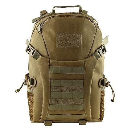 dfb84530366ec HUKOER Mochila táctica Macuto de montañismo militar -35 Litro al aire libre  Material a prueba del ...