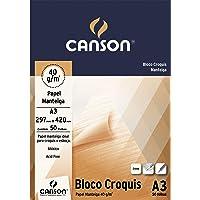 Bloco Canson Croquis Manteiga A3 40g/m² com 50 folhas