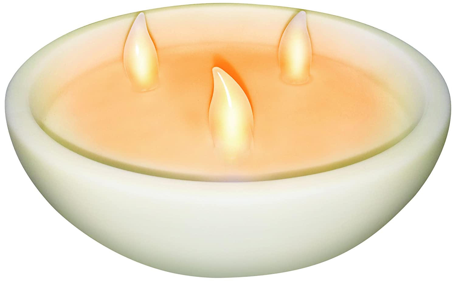 Banana Boat BB3WCAN100R LED Flameless 3-Wick Candle Light