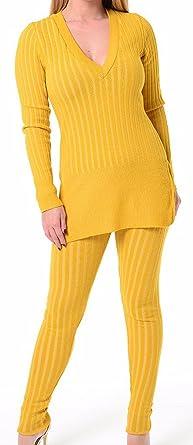 COMFYLOT LIMITED - Chándal - para Mujer Amarillo Mostaza ...