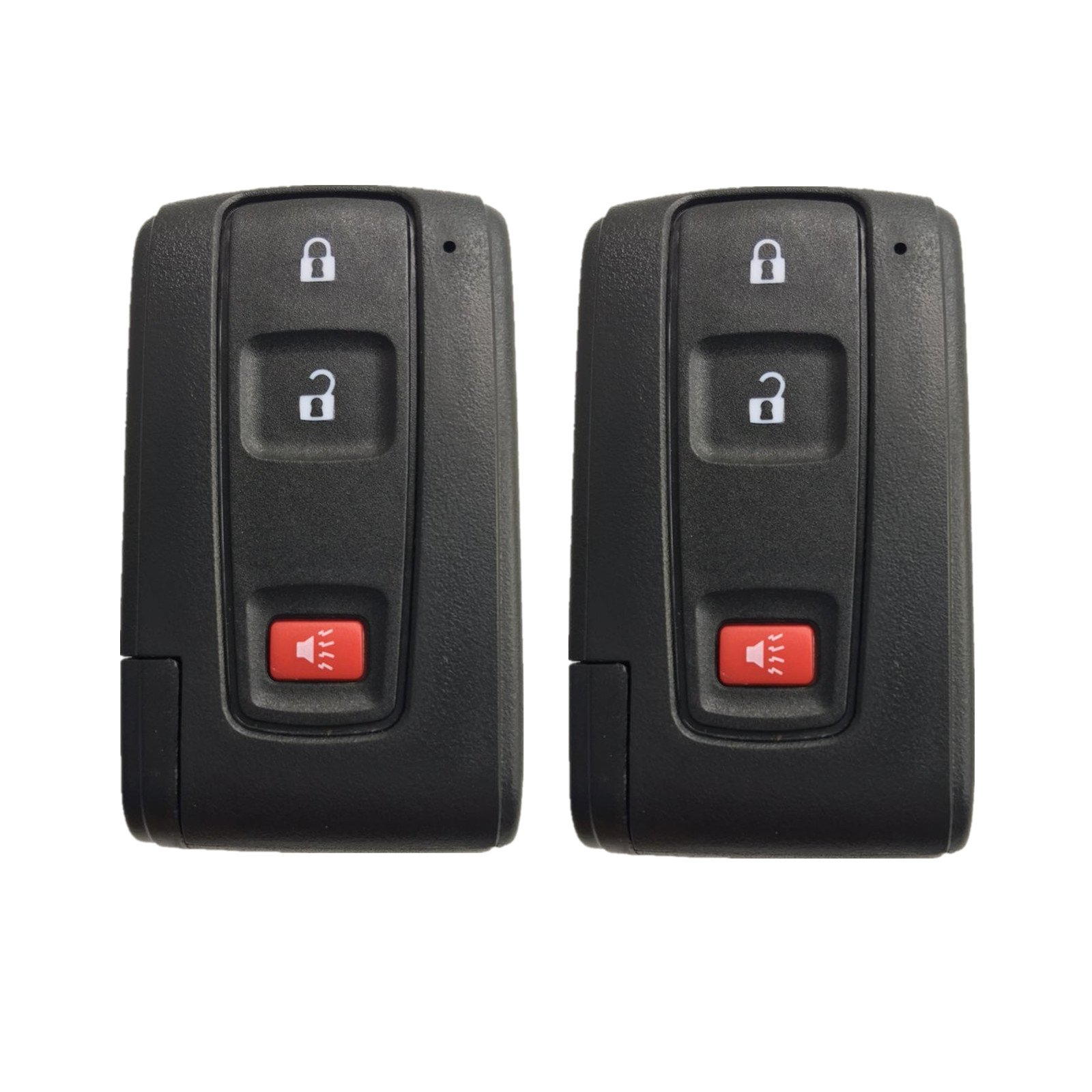 Dudely Replacement Shell Keyless Smart Remote Key Case Fob 2+1 Button 2004-2009 Prius Uncut Key Blade (only Key Shell)-2 Pack