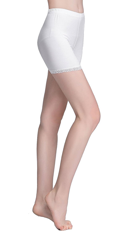 ce3c46f019c8ba Vinconie Women Sexy Under Skirt Leggings Safety Pants Yoga Boy Shorts Lace  Trim PANT_504_L_BLACK