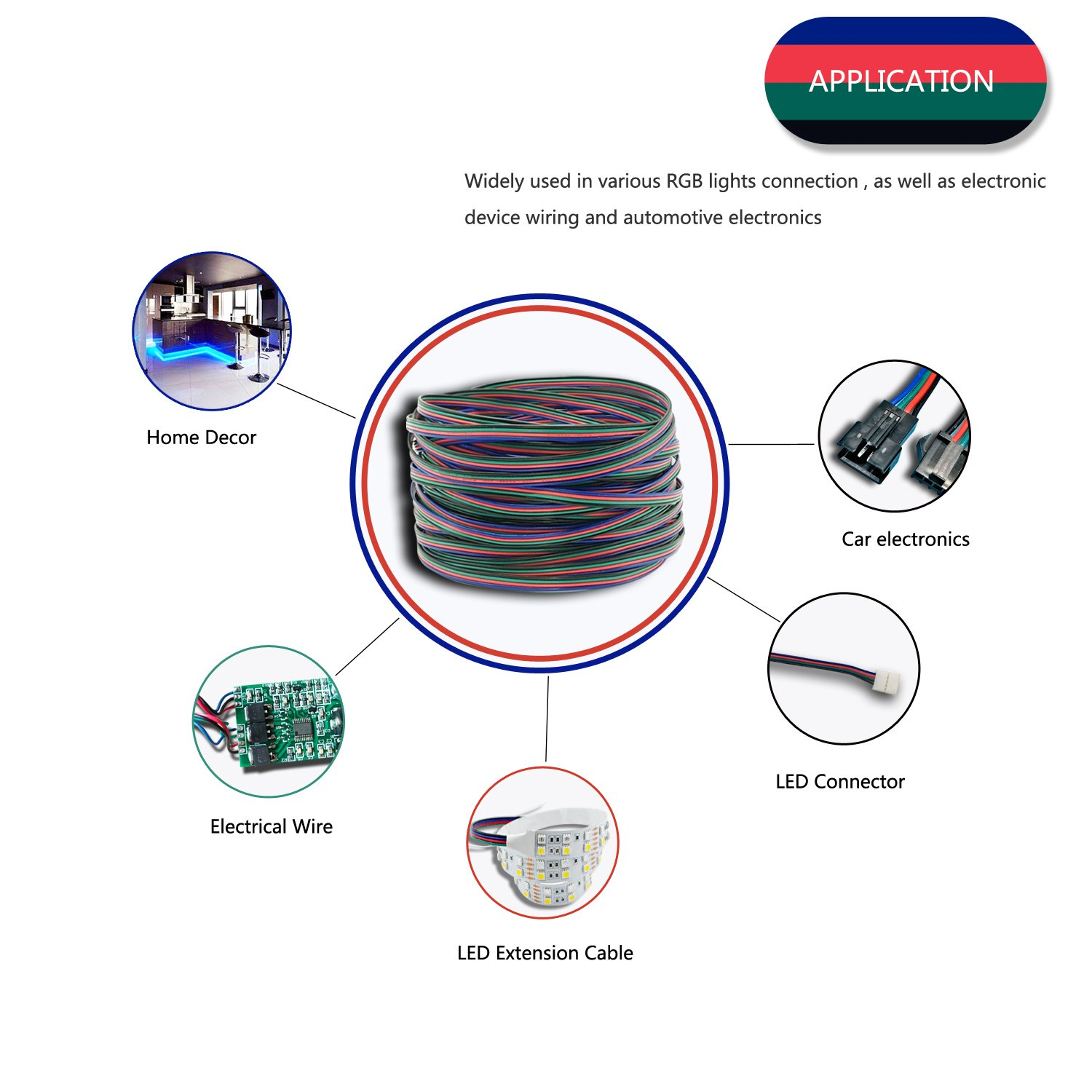 Rgb Connection Diagram Electrical Wiring Diagrams Light Led Connector Pattern 49 21ft 15m Extension Cable