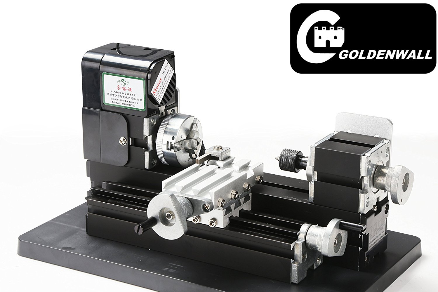 Z20002M Mini DIY Machine Metal Mini Lathe 24W 20000rpm didactical metal lathe machine for students DIY Works best gift for Chrildren's Gift by CGoldenWall (Image #1)