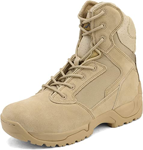 Men/'s Military Tactical Work Boots Hiking Motorcycle Combat Bootie New
