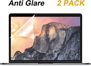 [2 Pack] Anti Glare(Matte) Screen Protector Compatible with MacBook Pro 15 inch 2019 2018 2017 2016 Released Model A1707 A1990 with Touch Bar, with Anti Dust and Finger-Print Coating