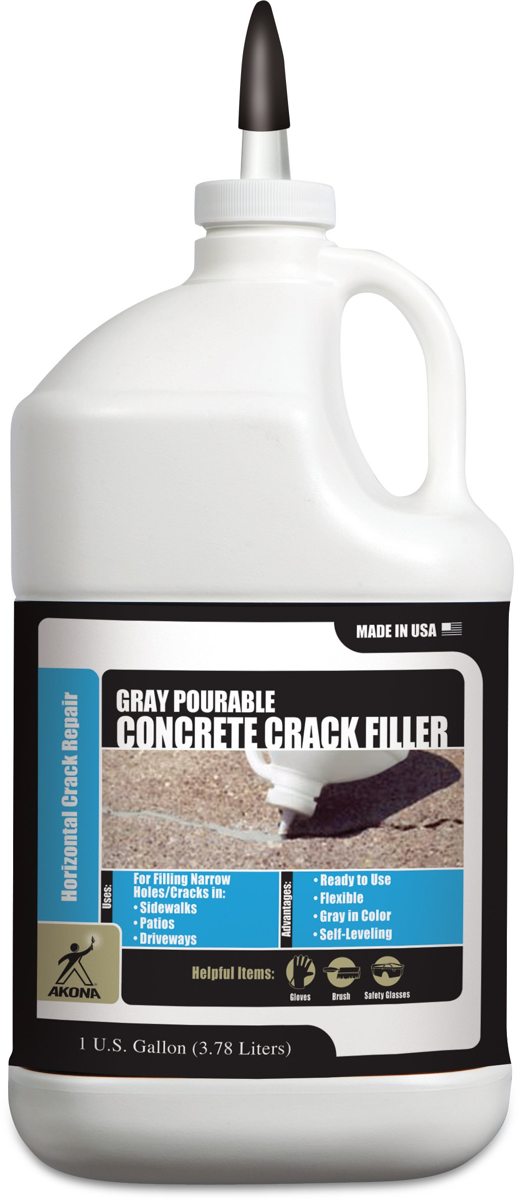 Akona Pourable Gray Concrete Crack Filler - Gal. (4 Pack)