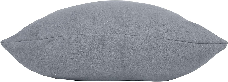 douceur dint/érieur coussin 40x40cm suede suedine gris clair
