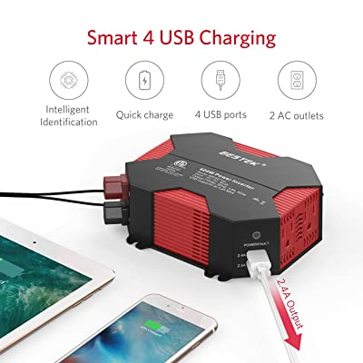 Bestek400WPower Inverter works well with most devices makes it perfect for solving power shortage issues.