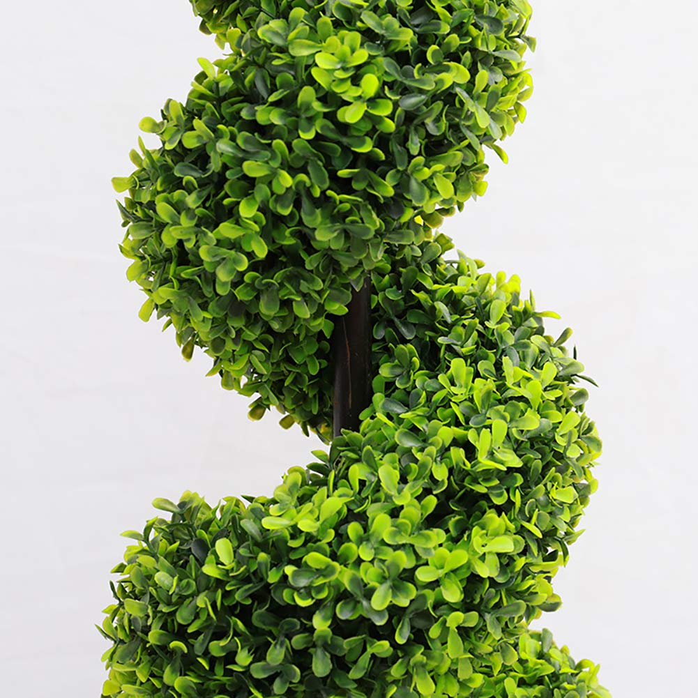 3ft 90CM Home Office Decorative Fake Plant by WarmieHomy The Fellie Artificial Potted Plant Spiral Tree 2 Pack